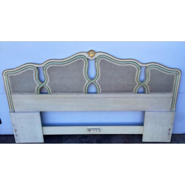 Vintage Shell Carved King Size Headboard - Image 3 of 6