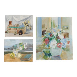 Floral Gallery Wall Art Paintings - Set of 3