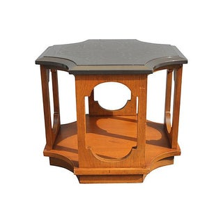 Mid-Century Modern Stone Top Occasional Table