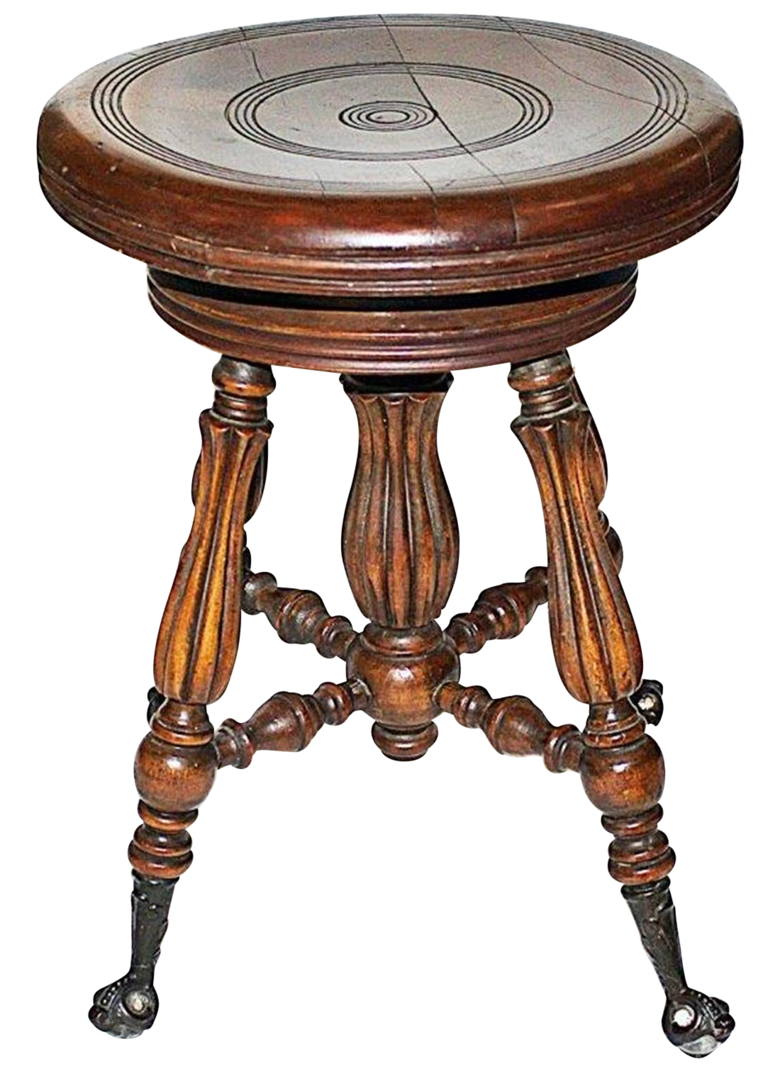 Antique Solid Wood Piano Stool Chairish