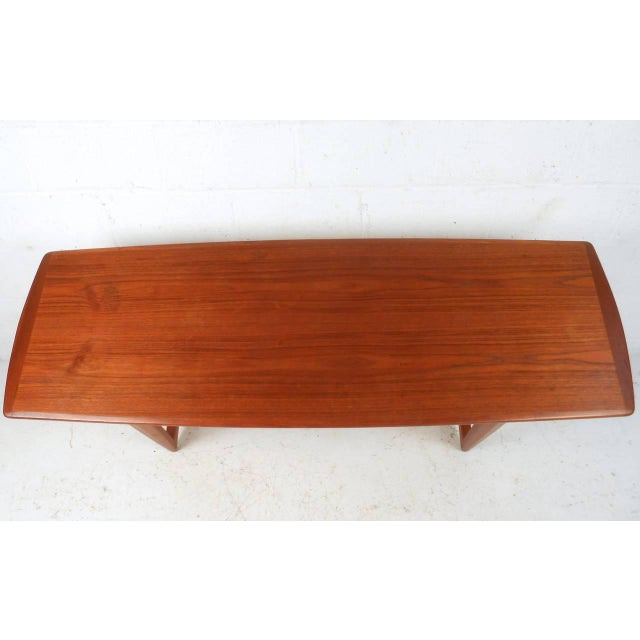 Peter Hvidt Style Teak Cane Shelf Coffee Table Chairish