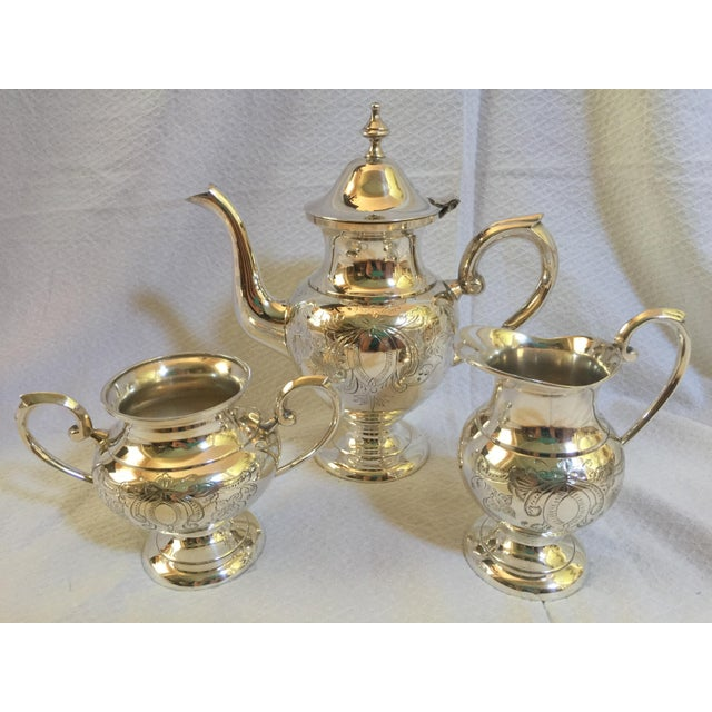 English Silverplate Coffee Service - Set of 3 - Image 3 of 6