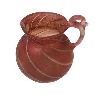 Italian Art Glass Pitcher Handblown