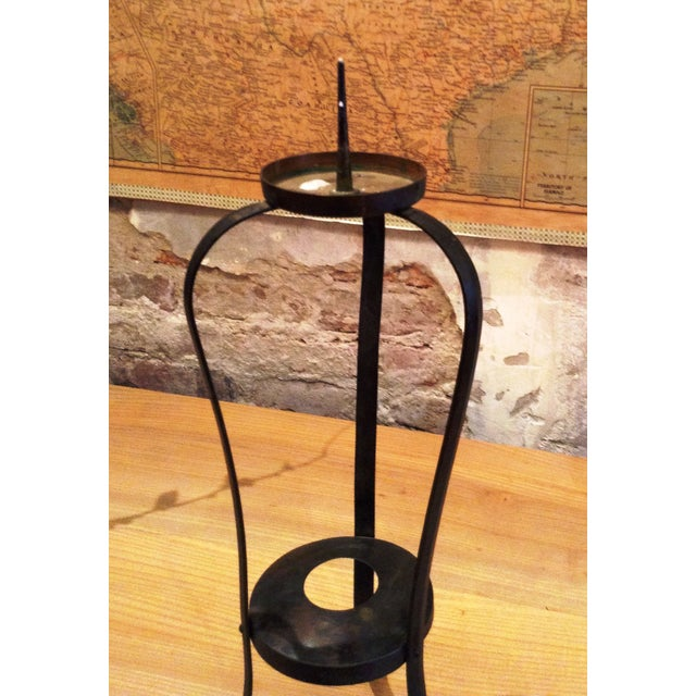 Early-20th Century Forged Japanese Candle Holder - Image 3 of 4