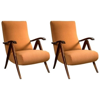 Italian Mid-Century Modern Reclining Chairs - Pair