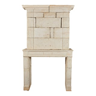 18th Century French Limestone Fireplace