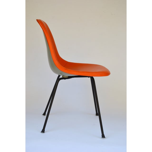 Herman Miller Eames Orange Vinyl Side Shell Chair - Image 5 of 9