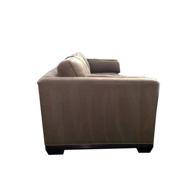 "Baker ""Modern Reed"" Sofa by Barbara Barry - Image 4 of 9"