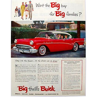 Matted 1957 Buick Super Ad