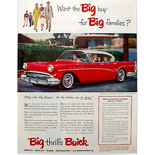 Image of Matted 1957 Buick Super Ad