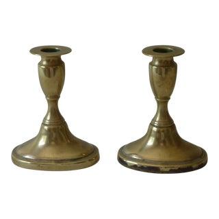 19th C. Brass Candlesticks - A Pair
