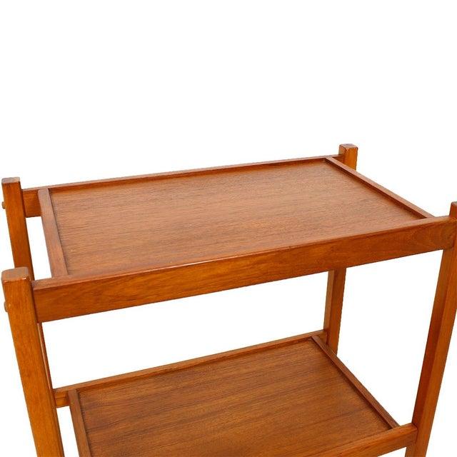 Compact Teak Bar/Serving Cart - Image 7 of 7