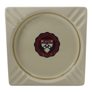 Vintage University of Pennsylvania Ceramic Ashtray - Catchall - Coin Dish