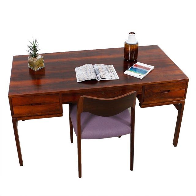 Danish Modern Rosewood Desk by Arne Wahl Iversen - Image 7 of 7
