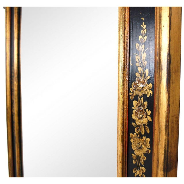 Vintage Black & Gold Chinoiserie Mirror - Image 4 of 6