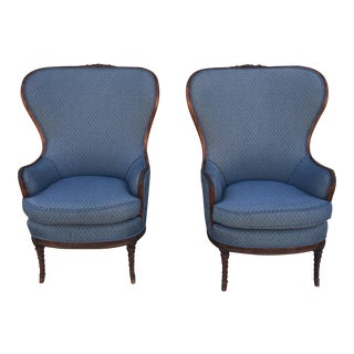 Vintage Blue Chairs- A Pair