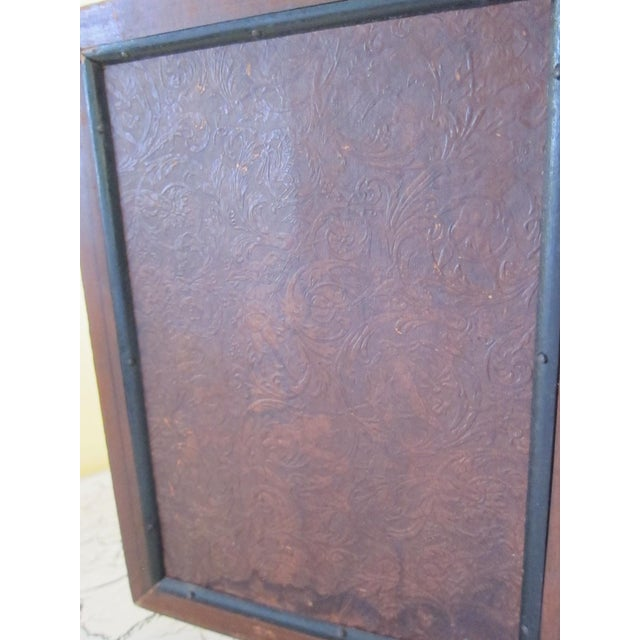 Victorian Antique Tri-Fold Wooden Travel Mirror - Image 9 of 11