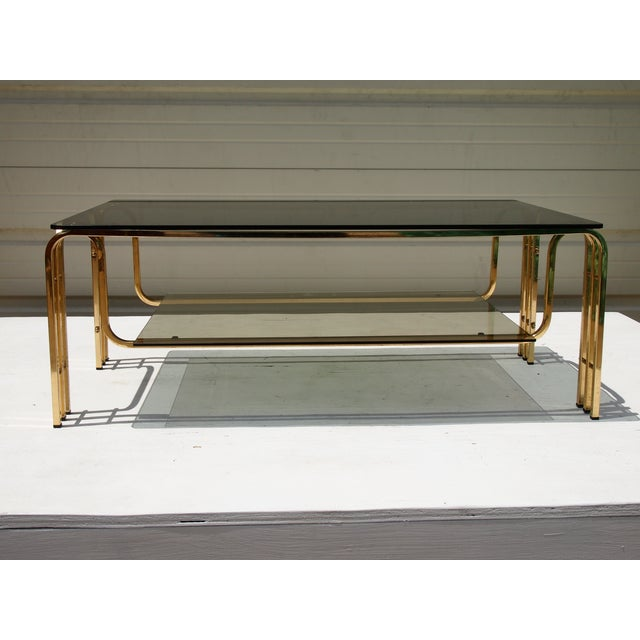 Modern French Coffee Table: French Modern Brass And Glass Coffee Table