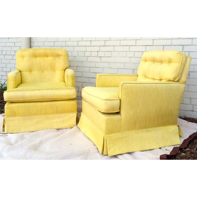 1960s Yellow Swivel Club Chairs - Image 4 of 10