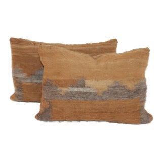 Mexican Weaving Angora Pillows - A Pair