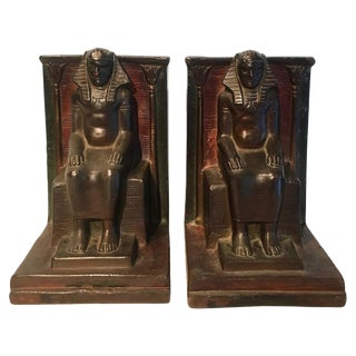 Pair of Copper Egyptian Pharaoh Bookends