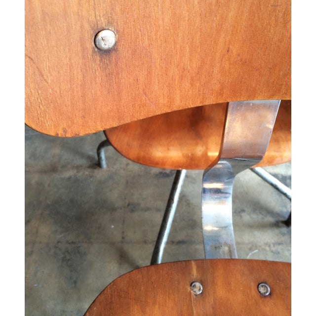 Vintage French Industrial Factory Stools - 4 - Image 6 of 10