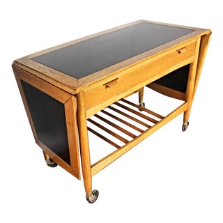 Elegant Mid-Century Modern Tea Cart Side Table Console Server