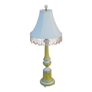 French Country YellowTable Lamp