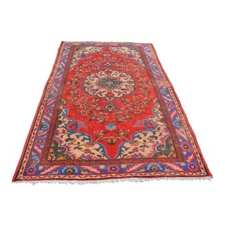 Antique Red Overdyed Rug - 5′1″ × 8′8″
