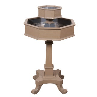 Double Tier Wood Planter on Pedestal
