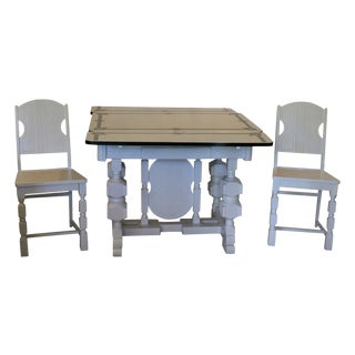 Art Deco Enamel Topped Dining Set