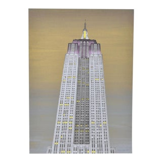Vintage Empire State Building Fine Art Print c.1990