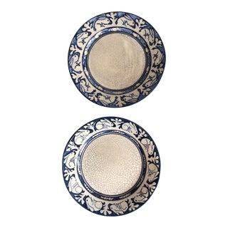 Dedham Pottery Rabbit Plates, C1920s - A Pair