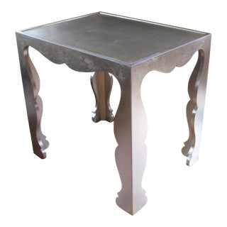 Bernhardt Silver Leafed End Table