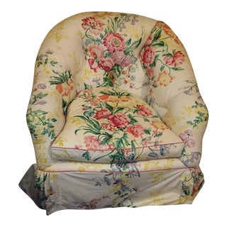 Marshall Fields Style Floral Chintz Lounge Chair