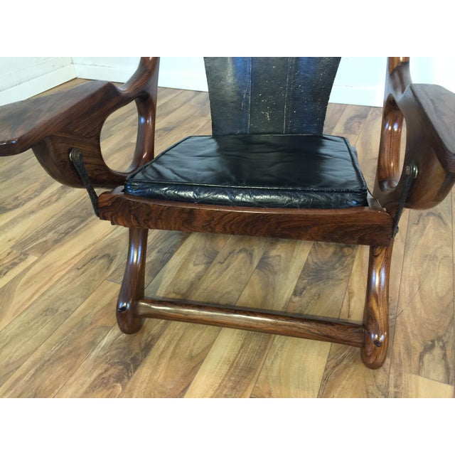 Don Shoemaker Studio Rosewood Swing Chair - Image 9 of 11