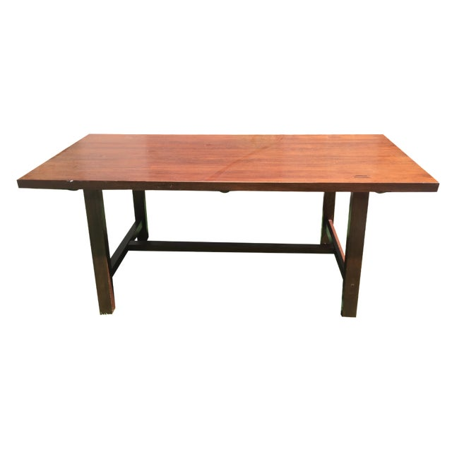 Crate Barrel Trestle Dining Table Chairish