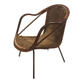 Mid-Century Arthur Umanoff Rattan Chair