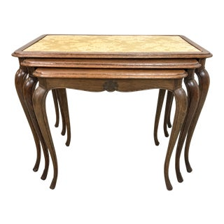 French Oak Nesting Tables