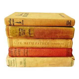 1930s Distressed Popular Books - Set of 5