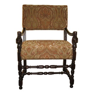 Carved Antique Baroque Arm Chair
