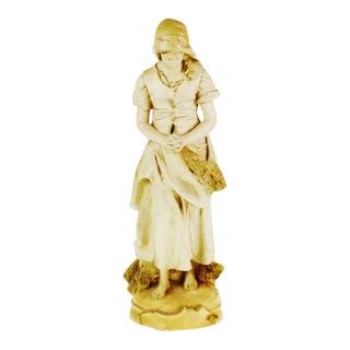 Marwal Ind. Inc. Vintage L'Angelus Chalkware Statue