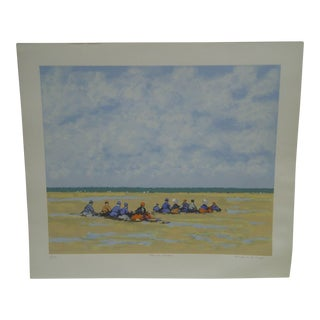 "Frederick McDuff ""Sitting on the Beach"" Limited Edition Print"