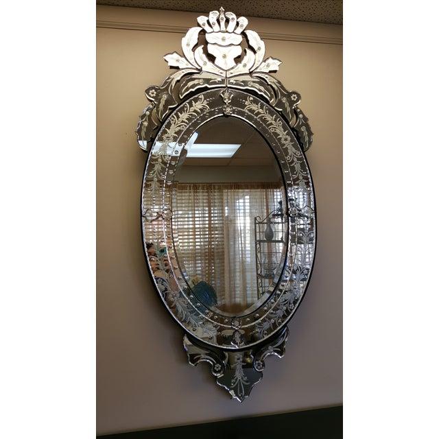 Image of Vintage Venetian Etched Mirror