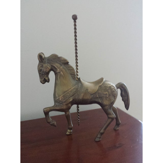 Brass Carousel Horse - Image 5 of 8