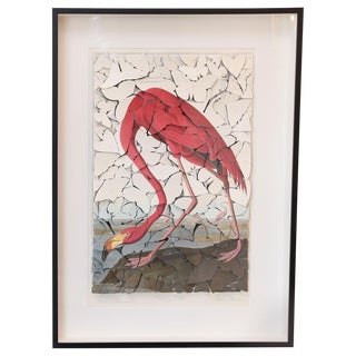 Butterfly Box Audubon Flamingo Print