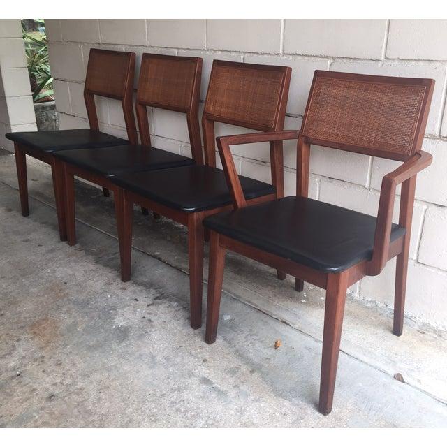 Mid-Century Walnut Dining Chairs - Set of 4 - Image 2 of 7