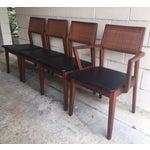 Image of Mid-Century Walnut Dining Chairs - Set of 4