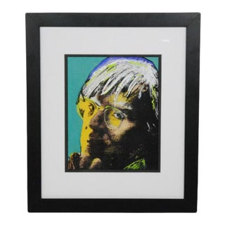 Celluloid Paper Painting of Andy Warhol