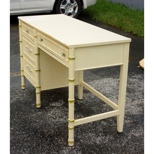 Mid-Century Bamboo Style Desk - Image 4 of 8